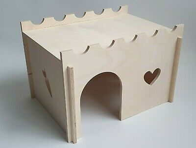 £15.99 • Buy Extra Large Plywood House Rabbit Guinea Pig Pet Hamster Degu Cage Accessories