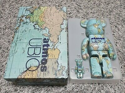 $499 • Buy BEARBRICK Atmos UBIQ Earth 100%&400% Medicom Be@rbrick