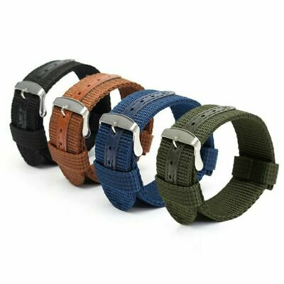 $6.99 • Buy 18mm 20mm 22mm 24mm Quick Release Military Canvas Nylon Watch Band Strap