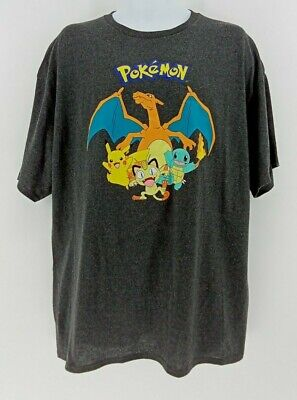 $13.49 • Buy Mens Pokemon T-Shirt 2XL Officially Licensed Pikachu Charizard Meowth Squirtle