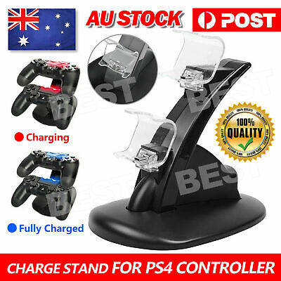 AU12.95 • Buy For PlayStation PS4 Controller Charger Dock Station Dual USB Stand Fast Charging