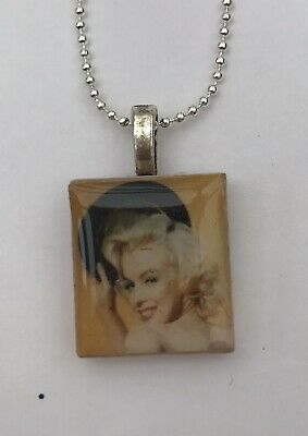 £3.95 • Buy Scrabble Tile Necklace Marilyn Monroe Collection Necklace Pendant Vintage Gift