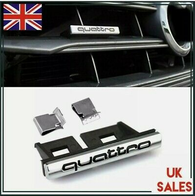 £4.99 • Buy Audi Quattro Front Grill Badge A3 S3 A4 S4 RS3 RS4 RS6 TT Q5 Q7 A5 S5 A6