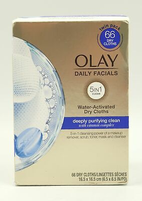 AU23.16 • Buy Olay Daily Facials Cleansing Cloths Deep Purifying 5 In 1 Clean 66 Count