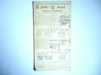 OXFORD UNIVERSITY  V  CAMBRIDGE UNIVERSITY   Cricket Scorecard  1937  -  LORDS   • 5£