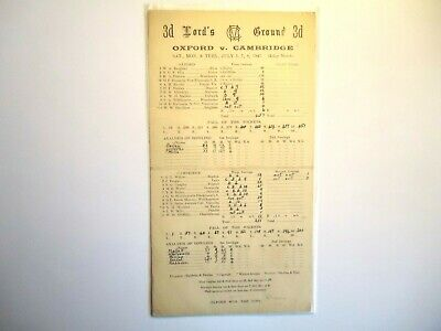 OXFORD UNIVERSITY  V  CAMBRIDGE UNIVERSITY   Cricket Scorecard  1947  -  LORDS   • 4£