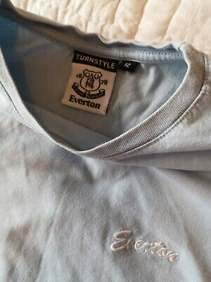 Everton T-shirt Pale Blue Fitted Womens Size 12 • 0.99£