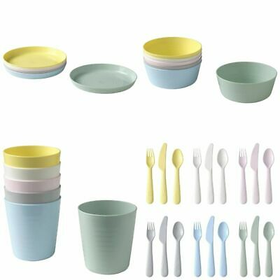 £5.59 • Buy IKEA Kalas Children's For Kids Plastic Plate Cups Bowls And Cutlery Set By IKEA