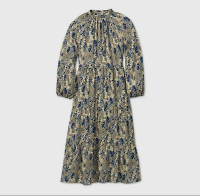 AU16.86 • Buy Women's Printed Long Sleeve Tiered Dress A New Day Size XXL*