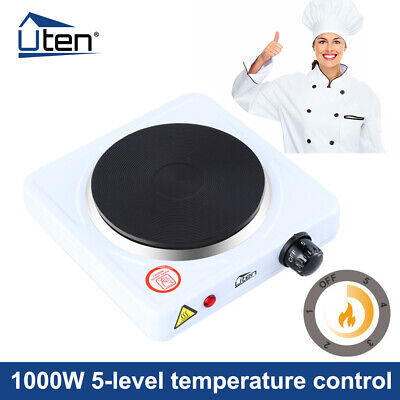 £14.59 • Buy Single Hot Plate Portable Table Top 1000W Electric Cooker Stove Kitchen Utensils