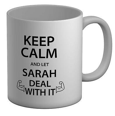 £8.99 • Buy Personalised Keep Calm And Let Name Deal With It White 11oz Mug Cup