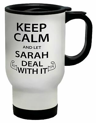 £16.99 • Buy Personalised Keep Calm And Let Name Deal With It Travel Mug Cup