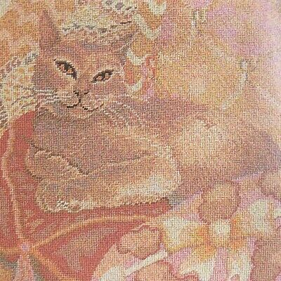 HIGHLY Collectable And Beautiful  Ehrman Tapestry Cushion Front Kit....Pink Cat • 250£