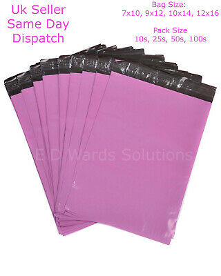 £4.99 • Buy Pink Mailing Bags Parcel Postal Sacks Strong Envelopes Mail Post Bag Recycleable