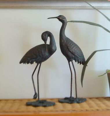 £77.99 • Buy Set Of 2 Crane Statues With A Bronze Finish Set Of 2