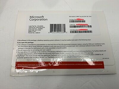 $ CDN42.32 • Buy Microsoft Windows 10 Home 64 Bit Full Version DVD& Product Key Sealed Brand New