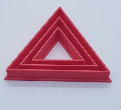 £3 • Buy Set Of 3 Triangle Biscuit Cookie Cutters Icing Sugar Craft Cake