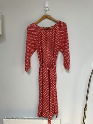 Brora Red And White Dress Size 10.  With 2 Pockets • 10£