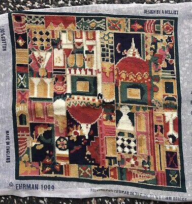 1999 EHRMAN 'AGRA' Completed Tapestry Needlepoint Annabel NellistCushion Frame • 50£