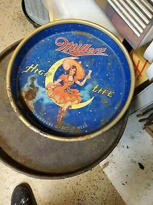 $20 • Buy Vintage MILLER HIGH LIFE GIRL On THE MOON BEER TRAY
