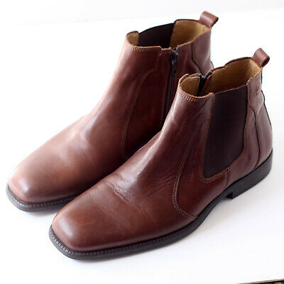 Camel Active Lisbon Men's Brown Chelsea Boots With Zips, Size 7 • 15£