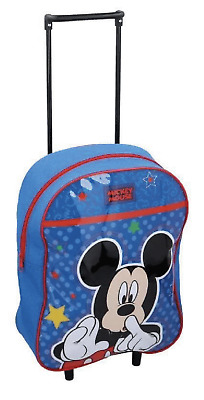 £18.99 • Buy Official Disney Mickey Mouse PVC Suitcase Luggage Trolley Bag Kids School