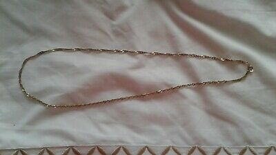 £160 • Buy Ladies 24 Inch 9 Carat Gold 6 Gram Twisted Rope Necklace