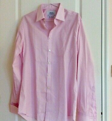 """£15 • Buy NEW CHARLES TYRWHITT, MEN COTTON SHIRT,16"""" COLLER Double Cuff, Extra Slim Fit,"""