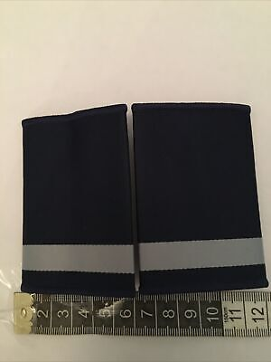 £3.95 • Buy NO205 Woven Security  Slider Blue And Grey Epaulettes, Shoulder Security