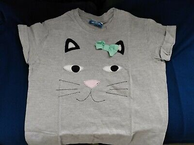 £10 • Buy Grey CAT FACE Ladies T-shirt Size Small / 10 Not For Ponies VGC