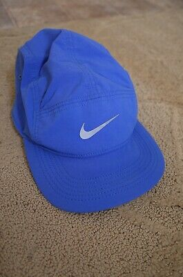 AU82.63 • Buy Nike AW84 Running Hat Cap Run 3m Reflective 5 Five Panel Blue