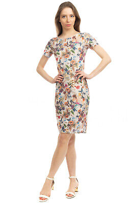 AU19.59 • Buy MARIA DI SOLE Lace Sheath Dress Size M Floral Pattern Short Sleeve Made In Italy