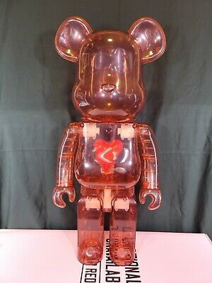 $2500 • Buy Bearbrick Emotionally Unavailable Clear Red Heart 1000% In Hand Brand New