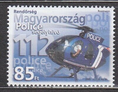 $ CDN1.63 • Buy HUNGARY 2005 **MNH SC# 3929 Police Helicopter And Emergecy Phone Number