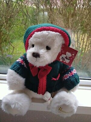HARRODS Christmas Teddy Bear 2006 *Excellent Condition* • 17.50£