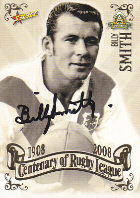 AU19.99 • Buy Billy Smith -  St. George Dragon's Signed 2008 Centenary Of Rugby League Card