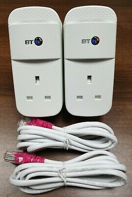£26.75 • Buy 2 X BT Mini Connectors V2 VERSION 2 1000Mbps  1GB Powerline Adapters + Ethernet!