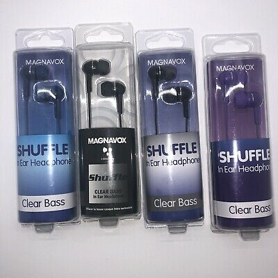 £5.81 • Buy Magnavox Shuffle Earphones CLEAR BASS MHP4850 Gummy Earbuds, ** Choose Color