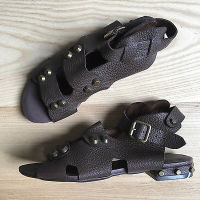 £18 • Buy F-TROUPE FTROUPE Sandals Gladiator Festival Studded Brown, 3 Or 36 EU NEW