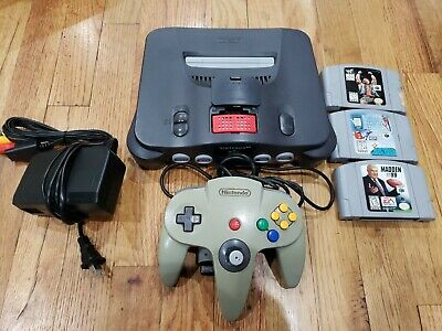 AU138.45 • Buy Nintendo 64 N64 Console With Expansion Pack Pak Tested 3 Games