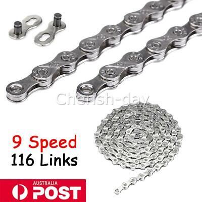 AU14.99 • Buy 116 Links Bicycle Chain For CN-HG53 LX 9 Speed Deore Mountain Bike Chains AU