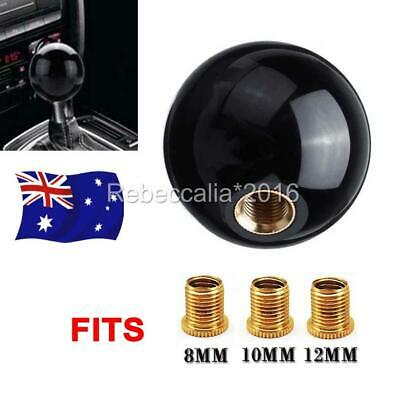 AU19.95 • Buy Universal Black Round Ball Gear Shift Knob Shifter Lever Fits M8/10/12 Adapter