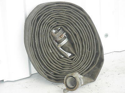 £18 • Buy Fire Hose,Water Pump Hose,30 Foot X 1.5 ,Ex Army Lay Flat,Brass Couplings