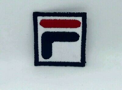 £1.90 • Buy  Sports Logo FiLA F Black Badge Iron On Sew On Embroidered Patch