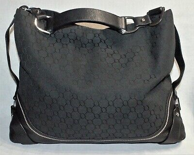 AU45 • Buy NEAR NEW/RRP$599 OROTON Large Black Signature Designer Shoulder Bag/Hobo Handbag