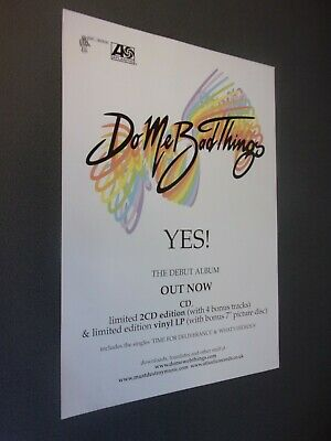 £10 • Buy Do Me Bad Things Original Concert Posters, Manchester