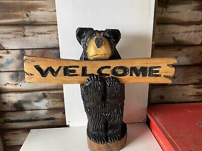 £200 • Buy Chainsaw Carved  Bear Carvings Bear Black Welcome Bear Elm Garden Outdoors Signs