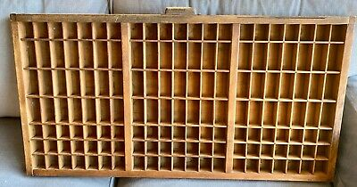 AU60 • Buy Antique Vintage Wooden Printer's Tray Drawer Display Unit Wall Hanging Picture
