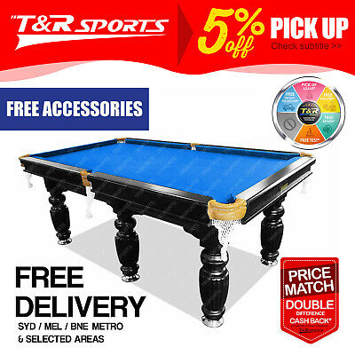 AU1480.99 • Buy 9FT Blue Slate Pool Table Luxury For Snooker Billiard Free Metro Delivery