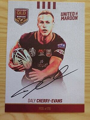 AU15 • Buy Signed 2019 Daly Cherry-evans Qld Xxxx Maroons Card